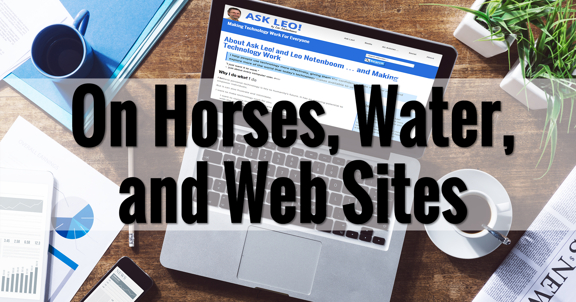 On Horses, Water, and Web Sites