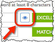 Eye icon to reveal generated password.