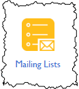 Mailing Lists icon at Bluehost
