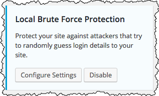 Local Brute Force Protection