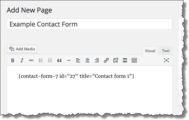 Add New Contact Page
