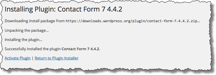 Contact Form 7 - Installed