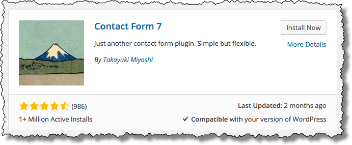 Contact Form 7 in the Plugin Search Results